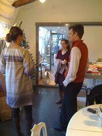 Sara at the office