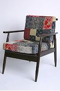 Midcentury patchwork chair