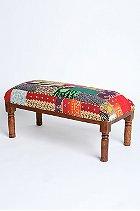 Handmade patchwork bench
