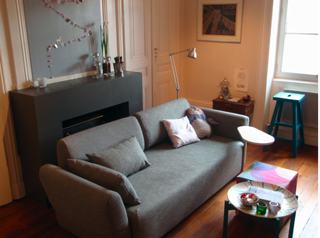 Lovely Sarah Owner Of French Blog 2 Clics Decided To Give Her Living Room A Facelift And Lucky For Us New Slipcover From Bemz Mysinge Sofa Was