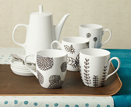 DIY ceramics via Ladies' Home Journal