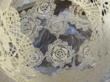 Let your doilies dry