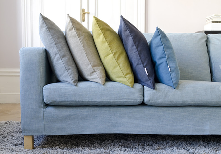 Cushions in a variety of colours from Tegner Melange collection at Bemz