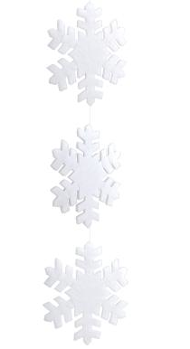 Giant snowflake garland from DZD