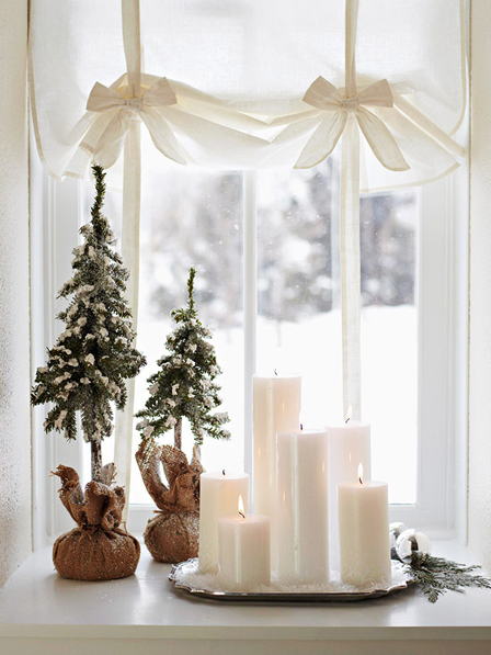 White Christmas via Canadian House&Home