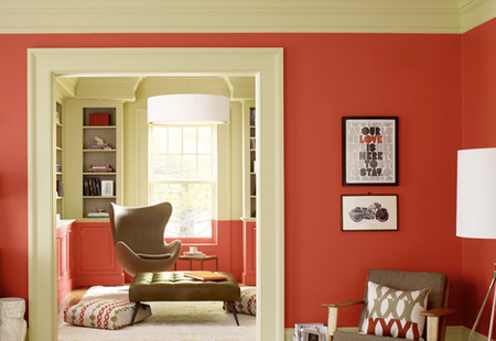 Red-orange room via AT