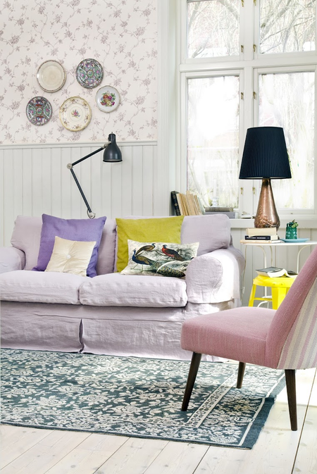 Ektorp sofa Loose Fit Country Lavender