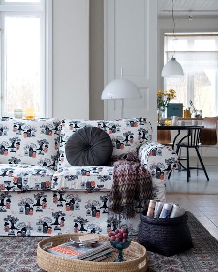 Ektorp sofa Kokeshi by Bantie at Bemz