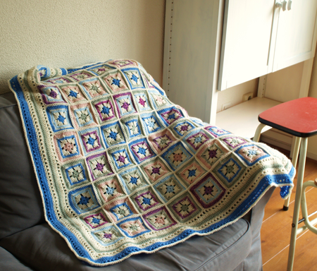 Mirjam's crocheted blanket