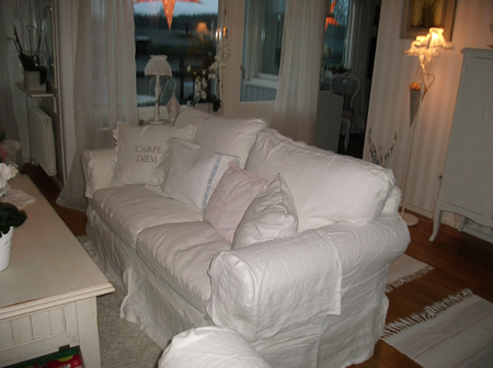 Ektorp sofa in Absolute White from Marianne
