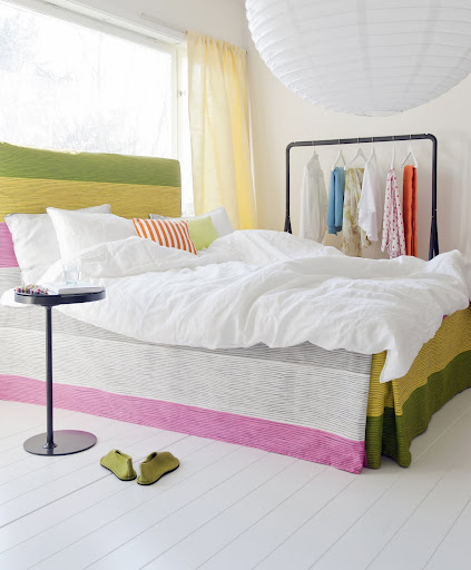 Bemz bed skirt with box pleats