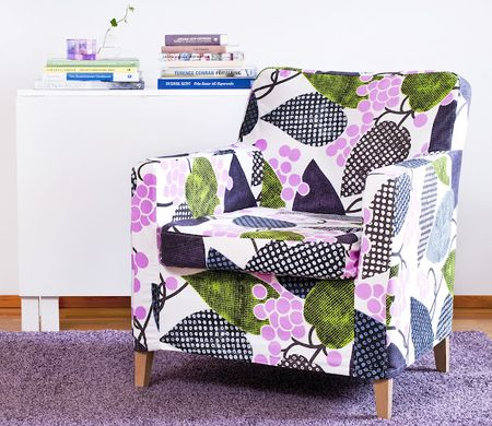 Bemz cover for Karlstad armchair small in Crocus Barcelona by Designers Guild