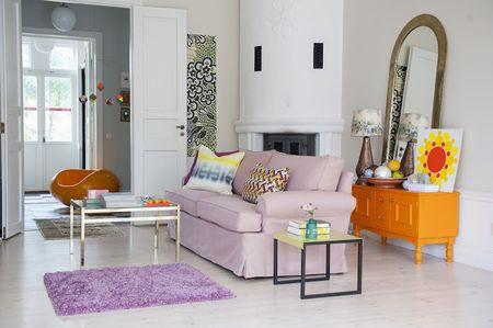 Bemz cover for Stockholm sofa in Rose Tegnér Melange