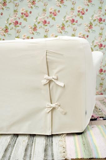Bemz cover for Tomelilla 3 seater sofa in Basiq style Unbleached Basiq Cotton.