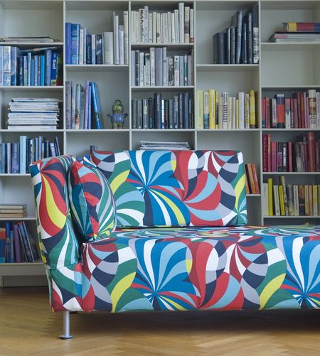 Bemz cover for Falsterbo chaise longue in Multi Spinning by Marimekko