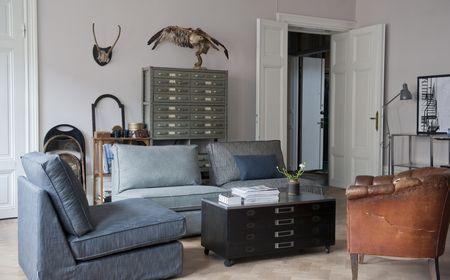 Bemz cover for Kivik sofa in Charcoal Grey Sybary, Light Grey Sybary, Zinc Grey Tegner Melange