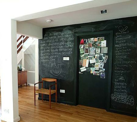 Blackboard wall via The Style Files