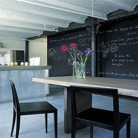Blackboard wall via The Style Files