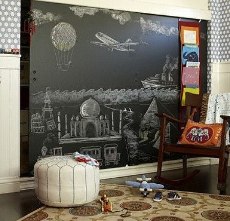Blackboard closet door idea via Inspiration for Home