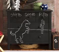 Blackboard idea for chest of drawers via Inspiration for Home