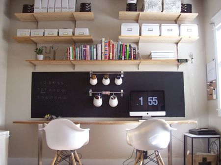 Blackboard idea for desk via Flickr