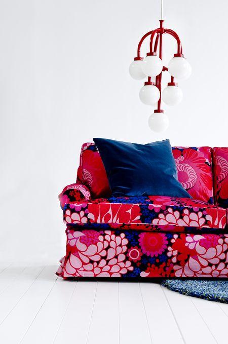 Bemz cover for Stockholm sofa (older model), fabric: Folklore, design Göta Trägårdh, from Bemz