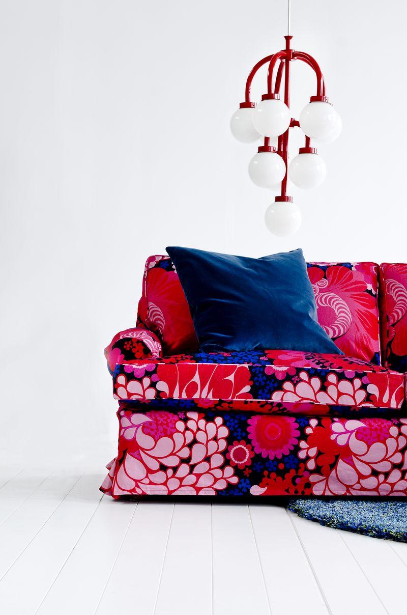 Bemz cover for Stockholm sofa (older model), in Folklore, design Göta Trägårdh, by Bemz
