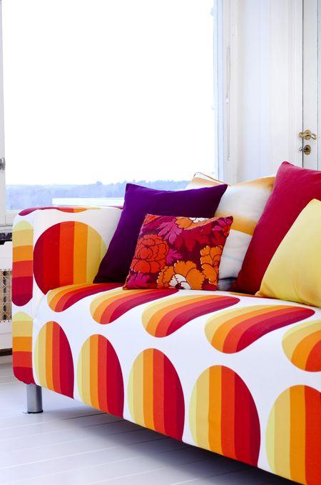 Bemz cover for Klippan sofa, fabric: Kavalkad, design Strömma, from Bemz