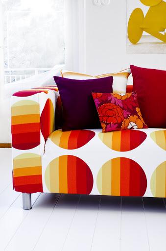 Bemz cover for Klippan sofa, fabric Kavalkad, design Strömma, by Bemz