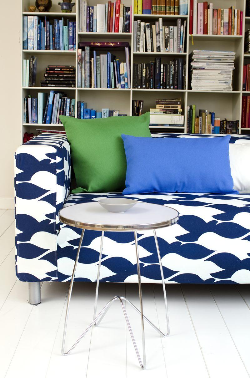 Bemz cover for Klippan sofa, fabric Blue Birds, design Strömma, by Bemz