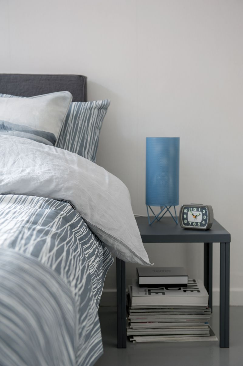 Made-to-order bedspread in Japan White, design by Katarina Wiklund