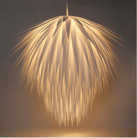 DIY Paper Starburst Pendant Lamp via Apartment Therapy