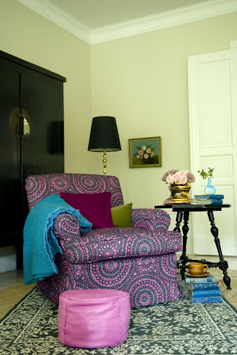 Bemz cover for Barkarby armchair in Strong Pink Josephine, design Göta Trägårdh
