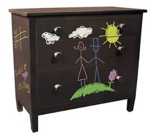 Chalkboard-makeover-paint-chest-drawer The s