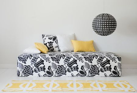 Daybed in Black&White Coconut Grove by Designers Guild from the Bemz Designer Collection