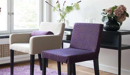 Nils Chair cover Viola Gråsten Kaleido BrownPlum