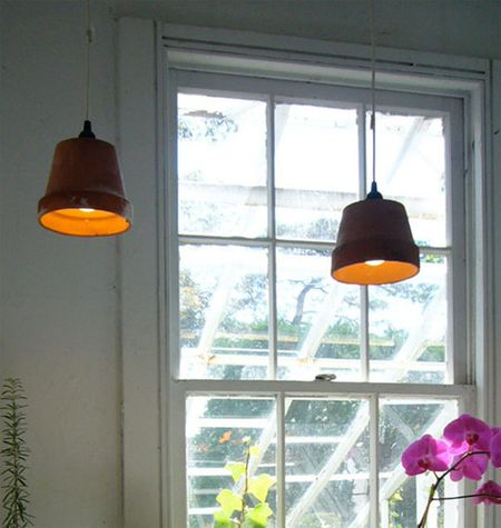 Terracotta pendants via Apartment Therapy