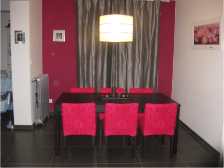 Henrik chairs in Fandango Red by Marimekko from the Bemz Designer Collection