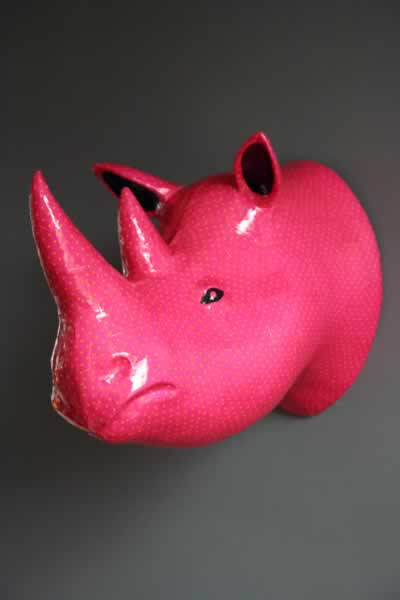 Rhinoceros-head-wall-hanging-pink