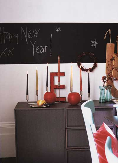 Blackboard idea via Inspiration for Home