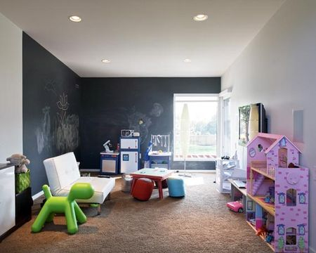 Blackboard wall idea via the Shelterness