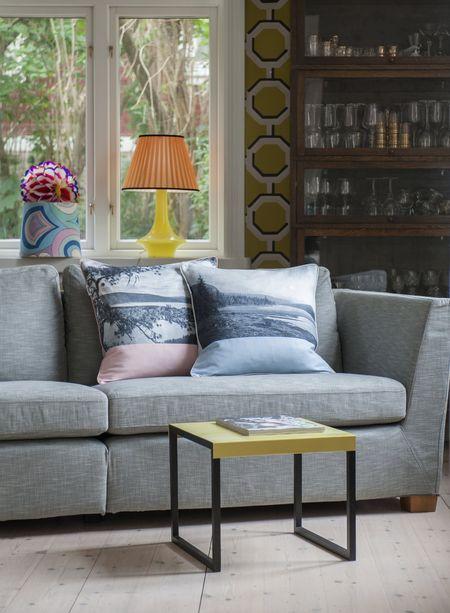 Bemz Artist Series Cushion covers - Rose Dellen & Silver Grey Valsta