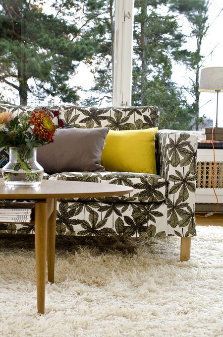 Bemz cover for Karlanda sofa, fabric: Hästkastanj, design Viola Gråsten, from Bemz