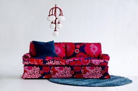 Bemz cover for Stockholm sofa (older model), fabric Folklore, design Göta Trägårdh, by Bemz