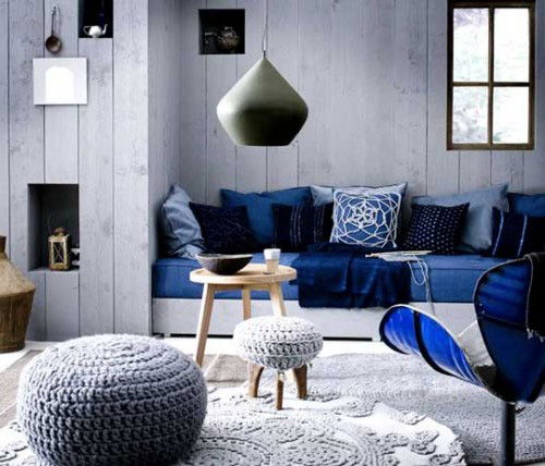 Blue And White Room trend alert: denim - it's a cover-up