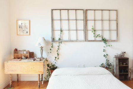 Hang old window panes via Apartment Therapy