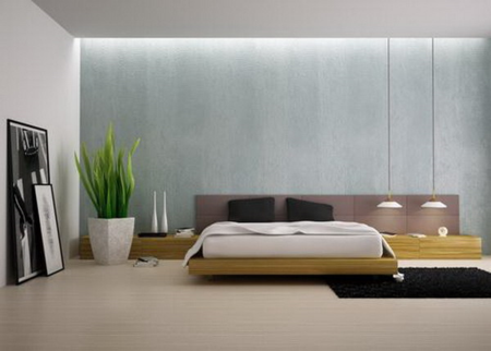 Bedroom lighting via Design Kastle