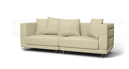 Tylösand 3 Seater sofa cover in Sand Beige Tegnèr Melange Textured Cotton
