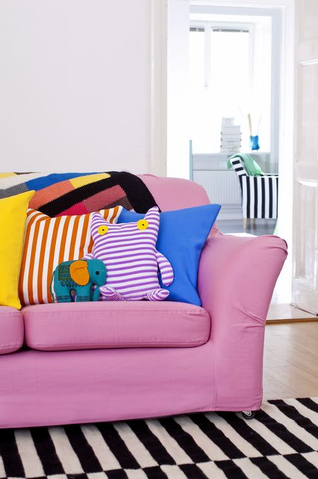 Bemz cover for Tomelilla sofa in Candy Pink Panama Cotton