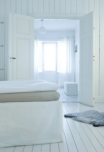 White linen curtains from Bemz